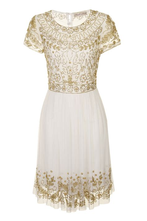 Gold Dress For white and gold white and gold embellished dress