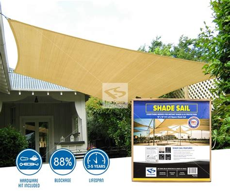 square shade sail for residential commercial areas