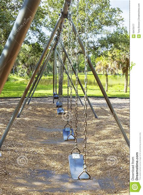 swing row row of swing seats stock photo image 56470177