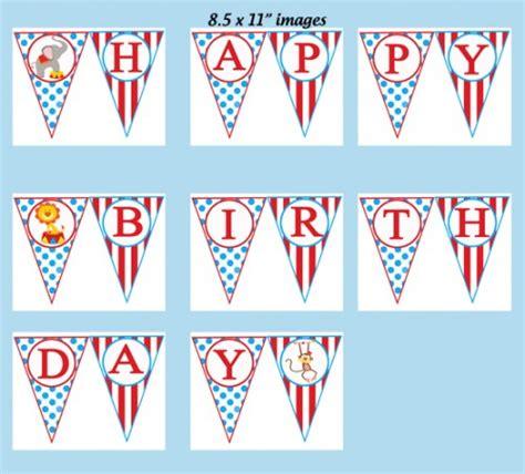 printable circus birthday banner circus carnival happy birthday banner printable big top