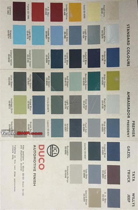 original vintage car paint colours page 6 team bhp