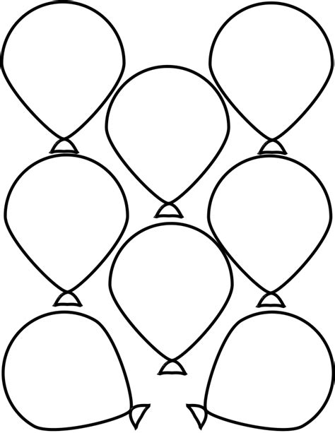 balloon template balloon template printable coloring home
