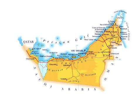 map uae maps of united arab emirates detailed map of uae in