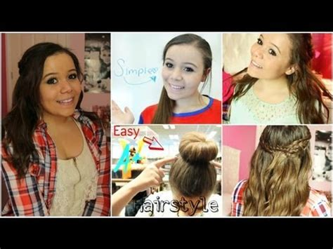 quick and easy hairstyles krazyrayray quick easy back to school hairstyles youtube