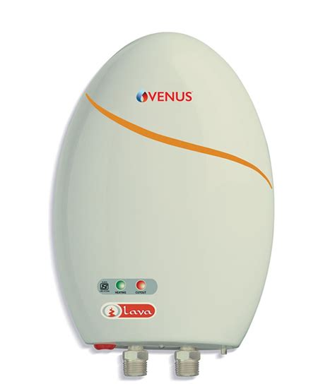 Water Heater Listrik Instan venus water heater lava instant 3l30 3 litres vertical ivory price in india buy venus water