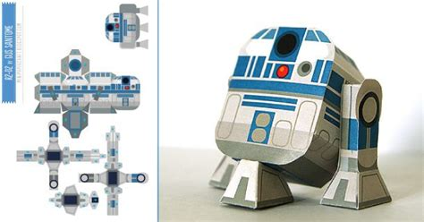 R2d2 Papercraft - mini papercraft r2d2 de gus santome wars nothing