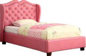 Contemporary Crystal Dining Room Chandeliers Twin Platform Bed Pink Padded Leatherette Headboard With