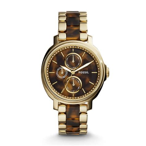 Fossil Chelsey Es3682 chelsey multifunction tortoise and acetate fossil