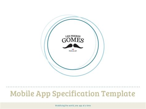 mobile app development template mobile app specification template be sure about the