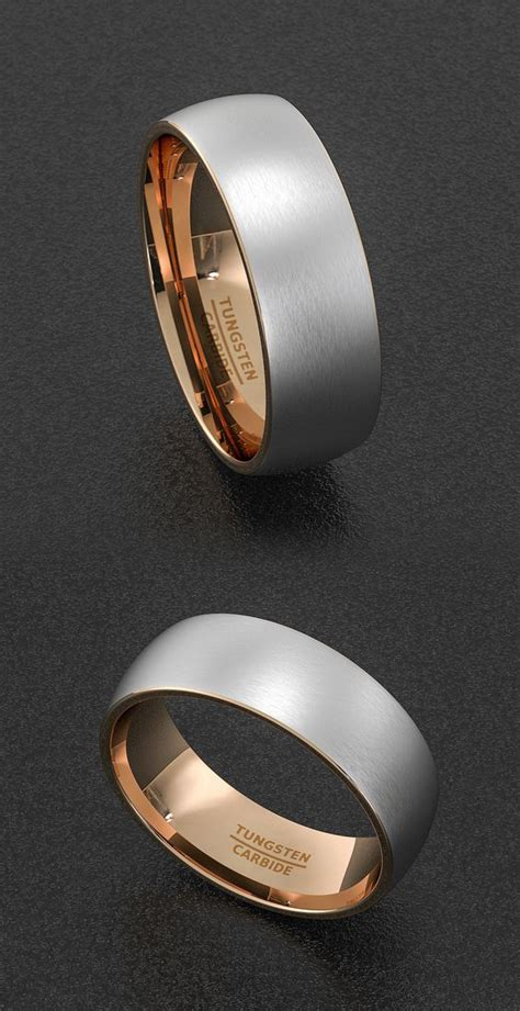 wedding brushes and tungsten carbide rings on
