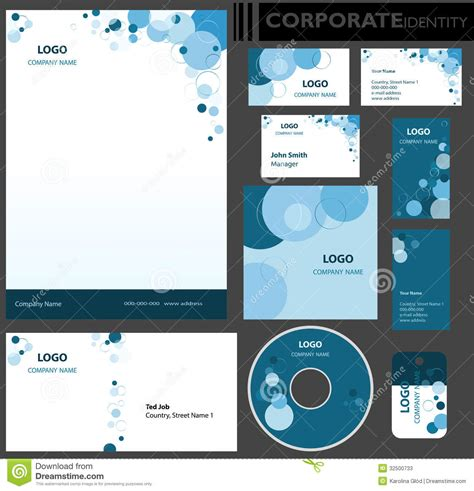 business card libre template corporate identity template stock photos image 32500733