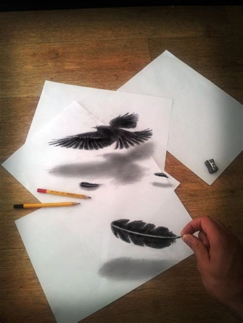 3d Sketches On Paper by 3d Illusion Drawings By Ramon Bruin Colossal