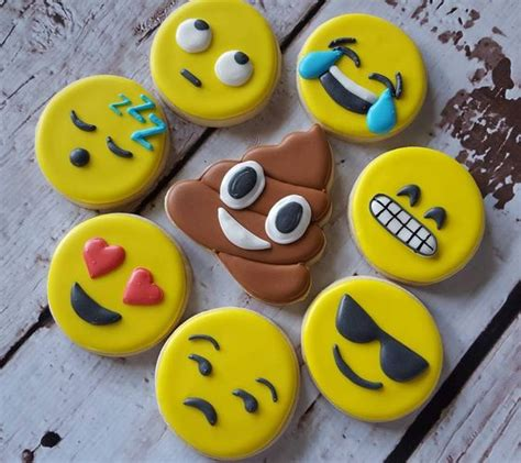 cookie emoji emoji cookies decorated cookies photos and