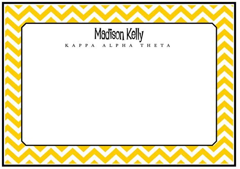 Cheveron Gift Card - chevron note cards design your own
