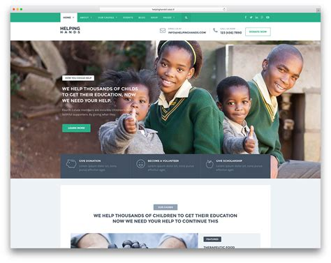 free website templates for non profit organizations 31 best themes for non profit charity