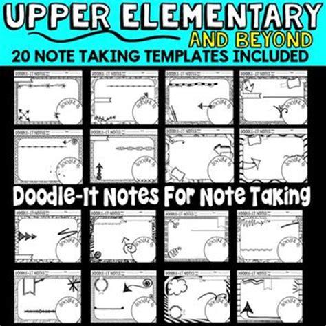 doodle 4 lesson plans doodle it notes templates by elementary lesson plans tpt