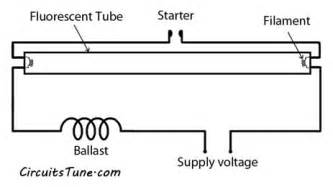 fluorescent lighting circuit wiring diagram gallery