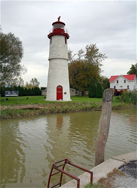 thames river lighthouse thames river range rear lighthouse ontario canada at