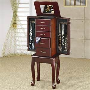 coaster accessories jewelry armoire 900144 interior
