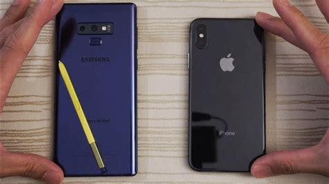 samsung galaxy note 9 vs iphone x speed test which is beast phim22