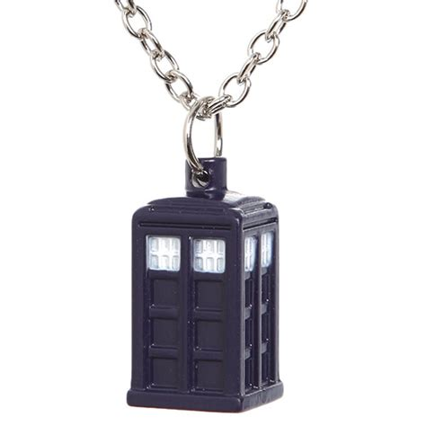 doctor who tardis 18 necklace
