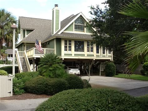 Isle Of Palms Steps From The Beach Quiet Private Isle Of Palms House Rental