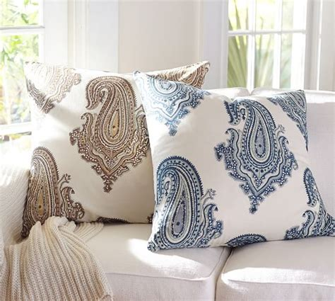 pottery barn sofa pillows gabi paisley pillow cover pottery barn