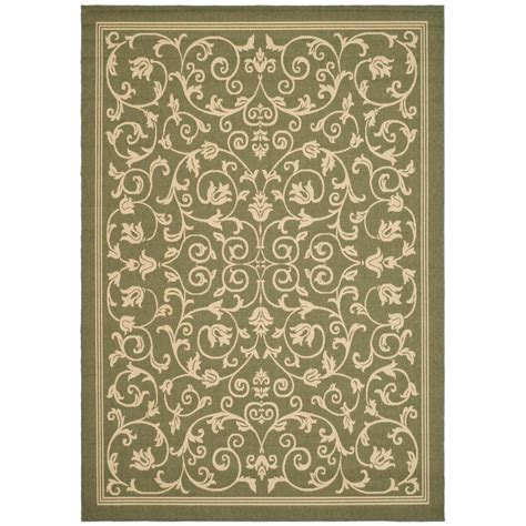 11 x 12 area rug safavieh courtyard olive 8 ft 11 in x 12 ft indoor outdoor area rug cy2098 1e06 9