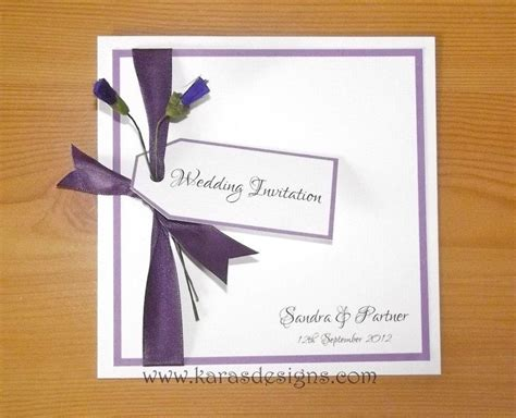 folded wedding invites scottish themed purple thistle wedding invites karasdesigns wedding