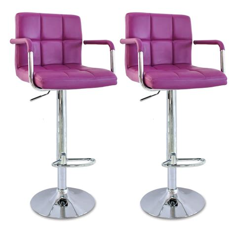 Kitchen Swivel Chairs by 2 X Bar Stools Faux Leather Swivel Breakfast Kitchen Stool