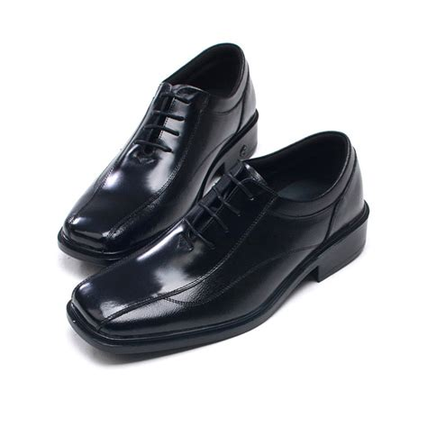 mens square toe air cow leather shoes
