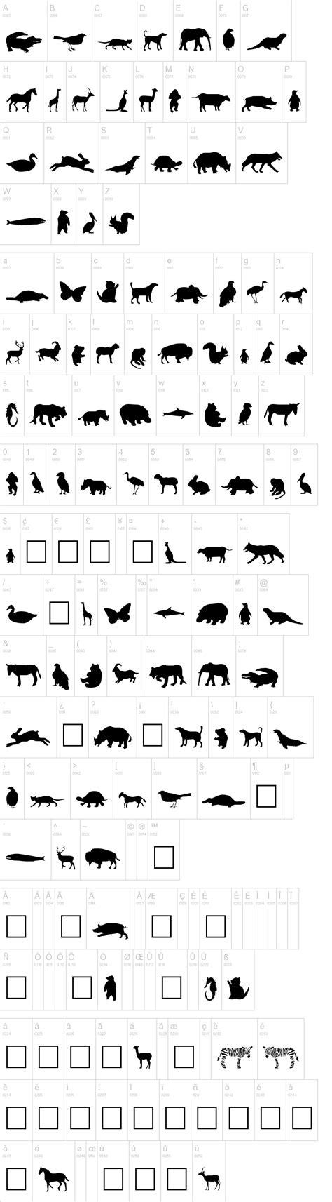 dafont typography animals dafont com