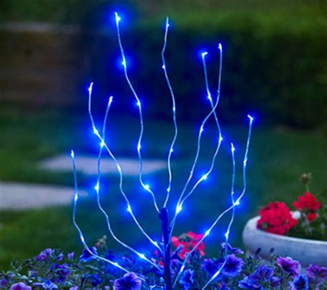 outdoor branch lights exhart indoor outdoor led branch light page 1 qvc