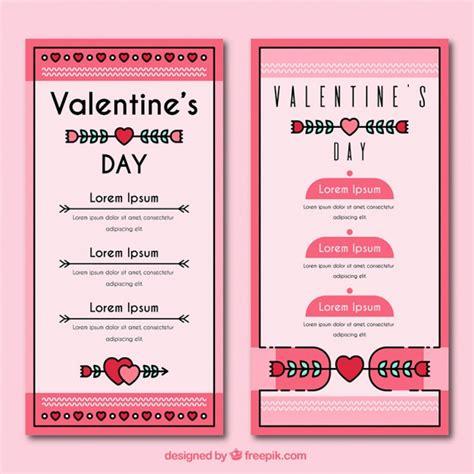 valentines menu template in vintage style vector free