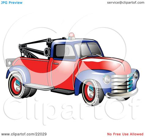 clipart illustration of a vintage blue and red 1953 chevy