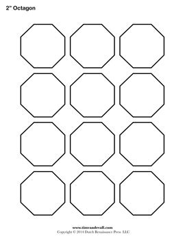 free printable octagon templates blank octagon shape pdfs