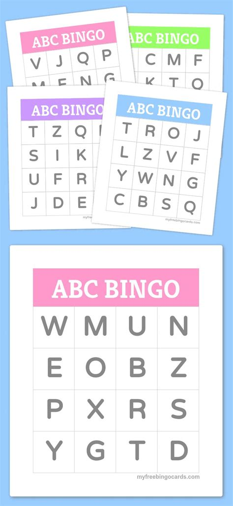 25 Printable Bingo Cards