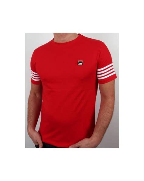 fila vintage 4 stripe t shirt crew neck striped mens