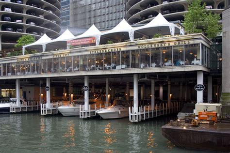 chicago river boat flip marina city history the incredible shrinking marina