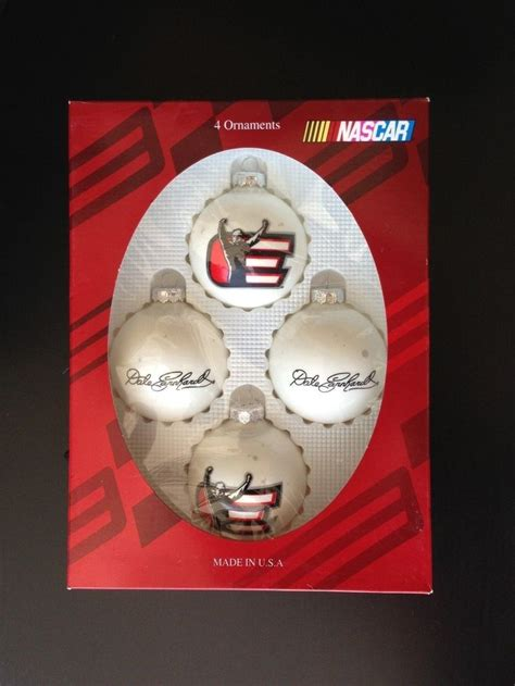 dale earnhardt sr nascar christmas white ornaments dale