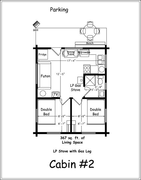 2 Bedroom Log Cabin Floor Plans 2 Bedroom Cabin Plans Two