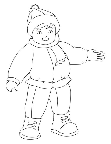 coloring page of winter clothes winter clothes coloring pages coloring home