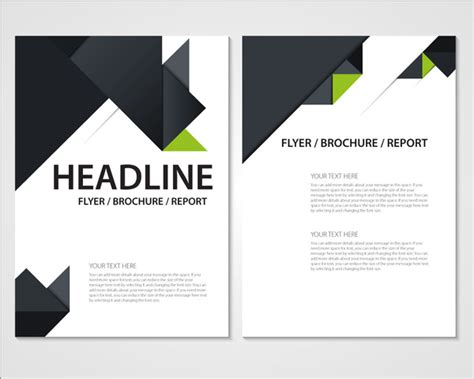 illustrator report templates flyer brochure report template with modern style design free vector in adobe illustrator ai