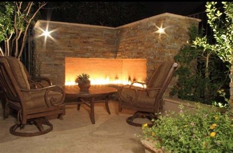 Outdoor Corner by Unique Outdoor Fireplace Designs Landscaping Network