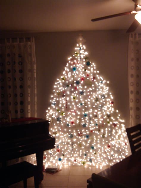 christmas tree made of lights on wall decoratingspecial com