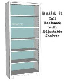 Easy Bookcase Plans Tall Bookcase With Adjustable Shelves Sawdust 174