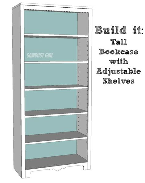 how to build a bookcase with adjustable shelves tall bookcase with adjustable shelves sawdust 174