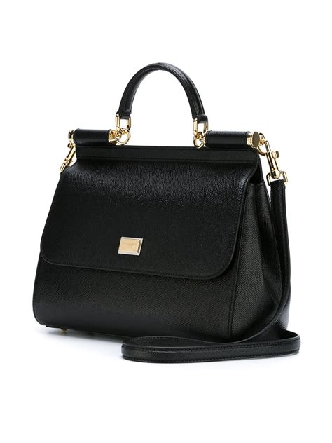 Dolce And Gabbana Miss Pocket Tote by Lyst Dolce Gabbana Miss Sicily Medium Handbag In Black
