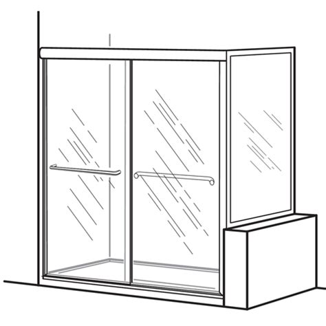 Standard Shower Door Opening American Standard Am0232s 400 213 Clear Glass Framed Bypass Sliding Shower Doors With