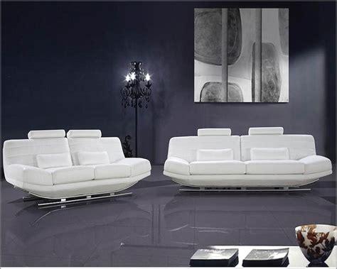 ultra modern design white leather sofa set 44l0670